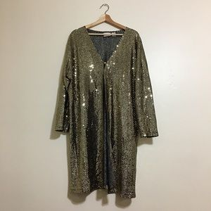 Oversized sequins cover-up